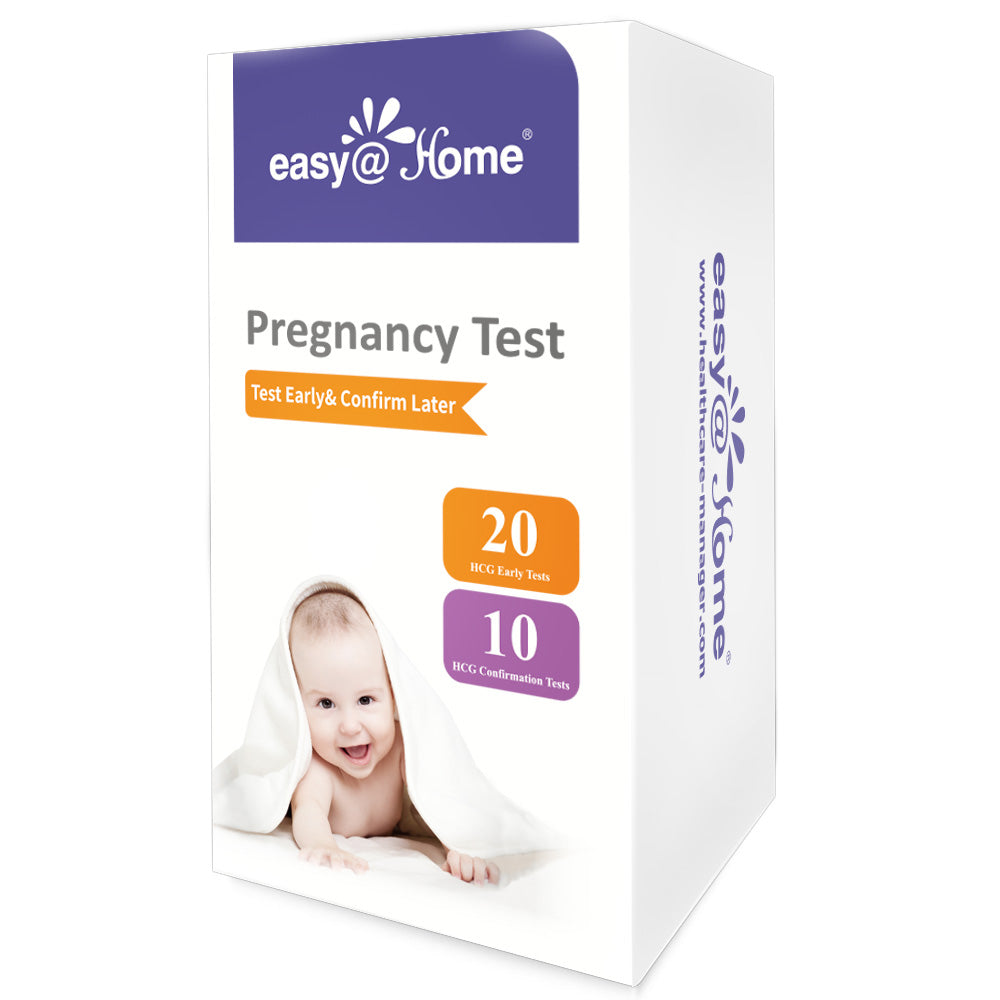 Easy@Home 20 Early Pregnancy Test (hCG) plus 10 Confirmation Test - Test Early and Confirm Later Pregnancy Test Kit