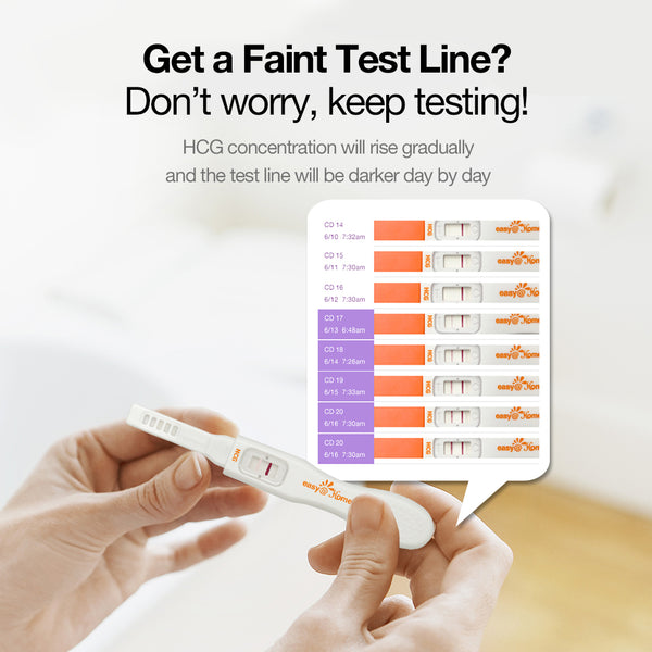 Easy@Home 5 Pregnancy Test Sticks - hCG Midstream Tests, Powered by Premom Ovulation Predictor iOS and Android App