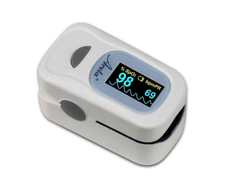 Areta Fingertip Pulse Oximeter with Dual-Color OLED- Display 8 modes EHP-500A