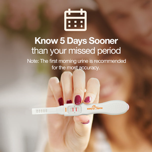 Easy@Home 3 Pregnancy Test Sticks - hCG Midstream Tests, Powered by Premom Ovulation Predictor iOS and Android App