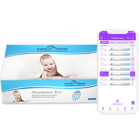 100 Ovulation Tests by easy@Home the #1 brand of fertility tests