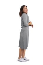 Cowl Neck Dress - Heather Grey