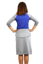 Zipper Sleeve Skirt - Heather Grey