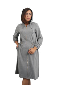 Zipper Dress - Heather Grey