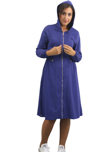 Zipper Dress - Blueberry
