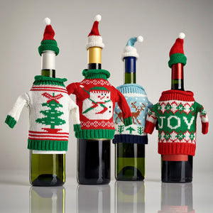 Ugly Holiday Sweaters Bottle Cover