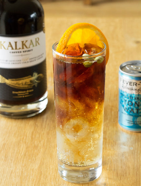 Kalkar coffee spirit from the Cornish Distiliing Company with fevertree tonic