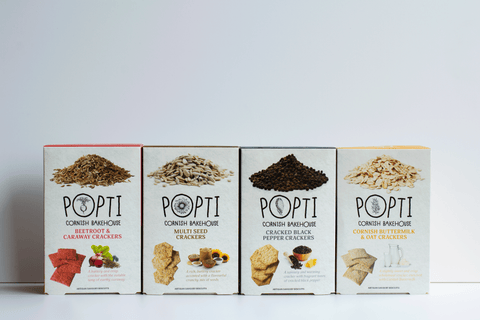Collection of popti crackers for cheese