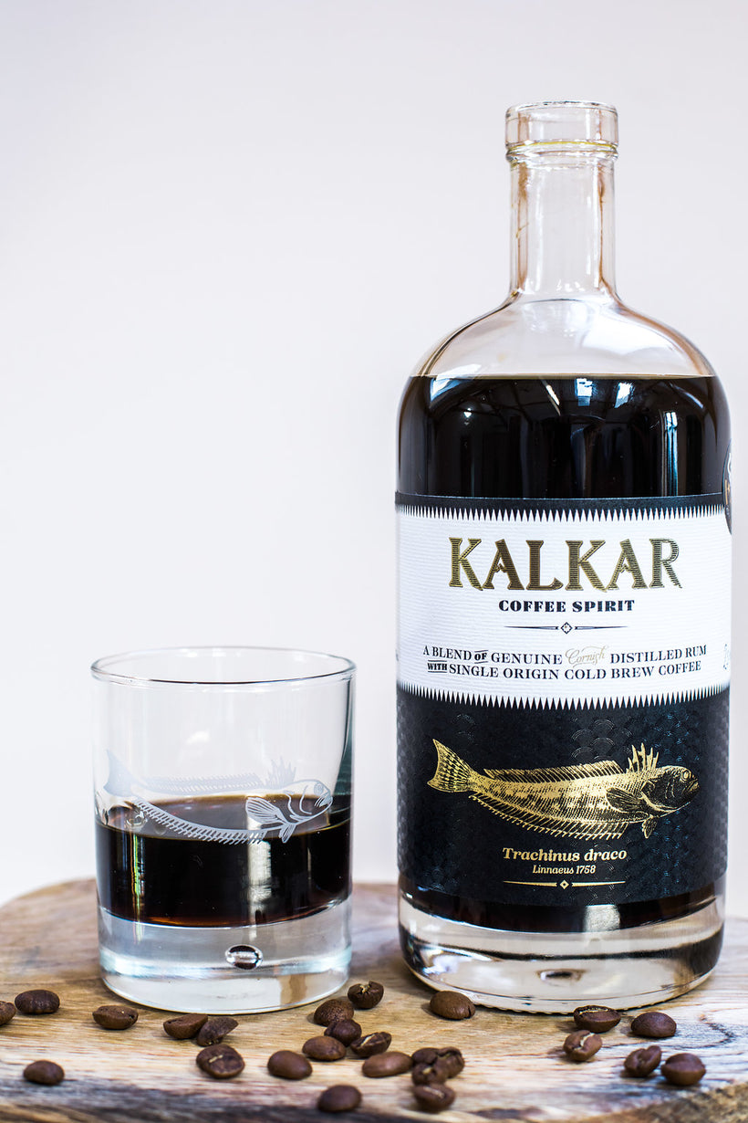 Kalkar cornish coffee rum in a glass