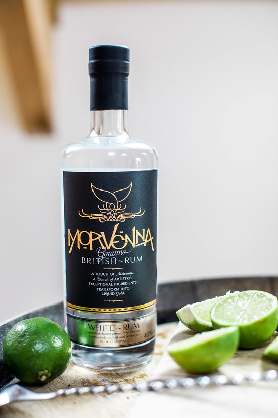 Morvenna Cornish white rum with limes