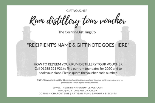Distillery Tour Gift Voucher