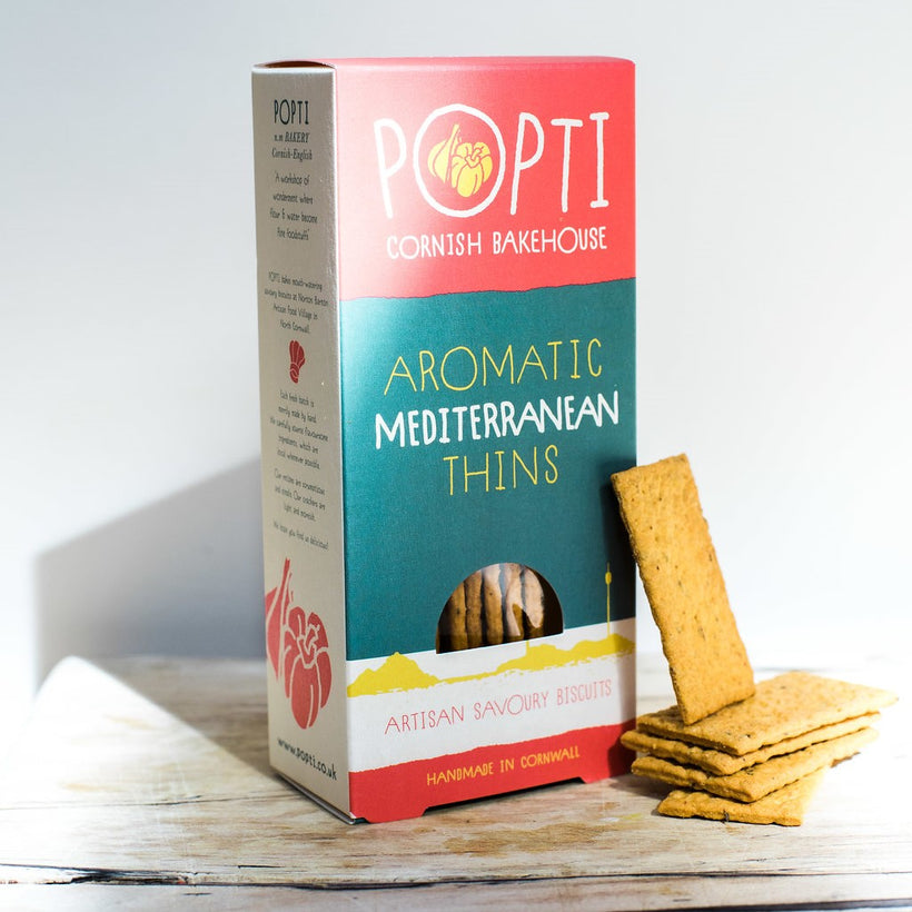 Popti Cornish Bakehouse mediterranean thins