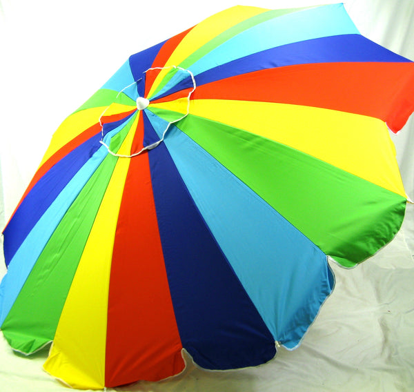 8' Beach Umbrella 20 Panel multi-color Umbrella by Copa