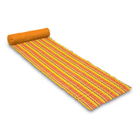 Picnic Time Soleil Padded Beach Mat and Pillow Orange