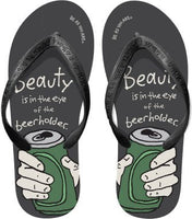 Men's Beach Flip Flops Be As You Are  Eye of the Beerholder Size 8-9