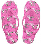 Flip Flops Be as You Are Don't Drink and Dial women's size S