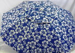 6' Beach Umbrella Hibiscus print Deluxe Wind Proof w/Sling Pak by Baja Beach