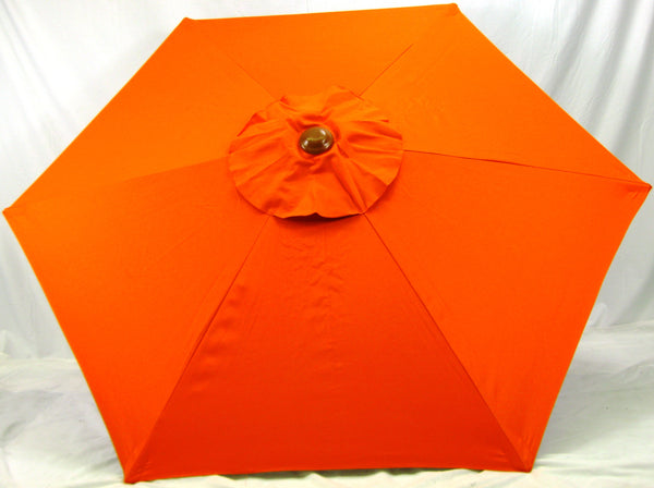 6' Beach Umbrella Orange Market umbrella SPF 50
