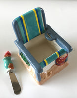 Boston Warehouse Beach Chair Dip Bowl & Spreader Set - Beach Decor