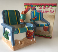 Dip and Spreader Beach chair set from Boston Warehouse