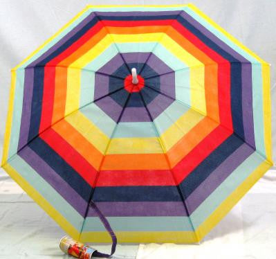 Baja Beach 3' Umbrella Clamp-on for Beach Patio Chair Camping Rainbow Stripe