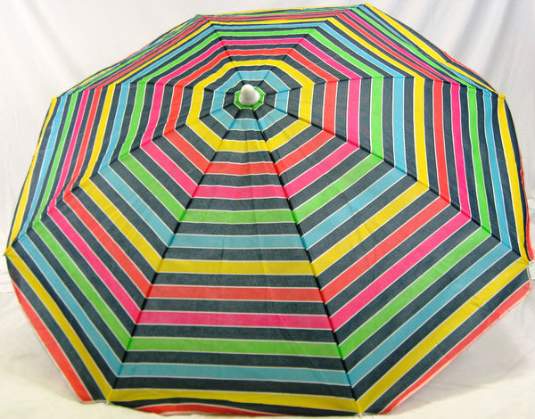6' Beach Umbrella Copa Cabana Stripe SPF50 Gulf Shores