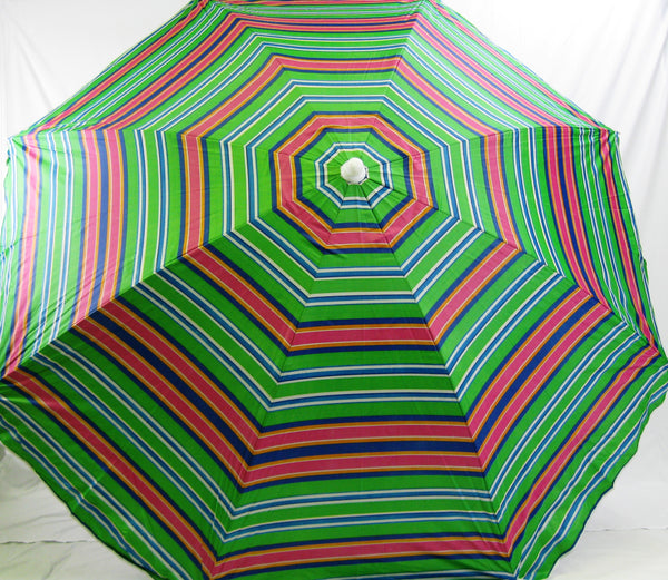 6' Beach Umbrella Copa Cabana Stripe SPF50 Myrtle Beach