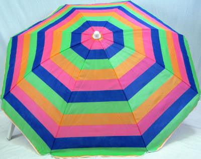 6' Beach umbrella Copa Cabana Stripe SPF50 Miami