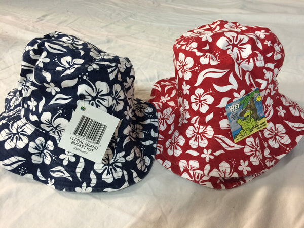 Red Aloha Bucket Hat