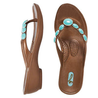 Oka b Cynthia Copper with Turquoise flip flop L (10-11)
