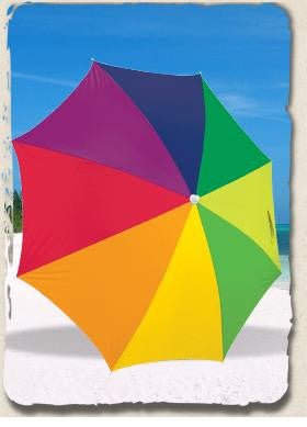 6' Beach Umbrella Caribbean Sky Sun Screening Umbrella from RIO SPF 50