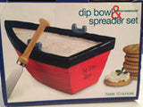 Boston Warehouse Rowboat Dip Bowl and Spreader Set - Beach Decor