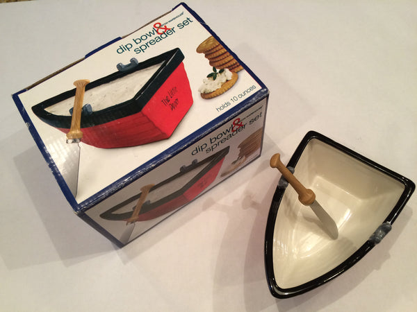 Rowboat Dip and Spreader set from Boston Warehouse