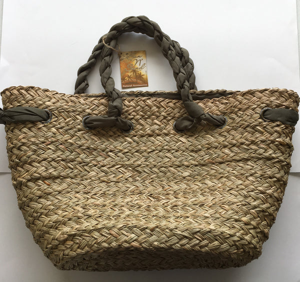 Natural Woven Beach Bag Tote from Sun N Sand