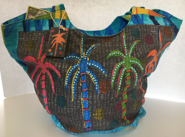 Feel Good Palm Trees bag by Farida Zaman for Sun N Sand