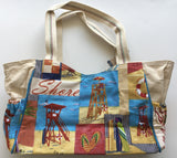 Beach bag Coastal Canvas Tote bag from Sun N Sand