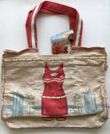 Sun N Sand Vintage bathing suit tote bag by Paul Brent