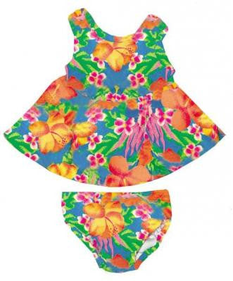 My Pool Pal Girls Swim Dress Swimsuit with Built-in Swim Diaper Floral