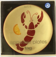 Shrimp appetizer plates (set of 4) by TAG