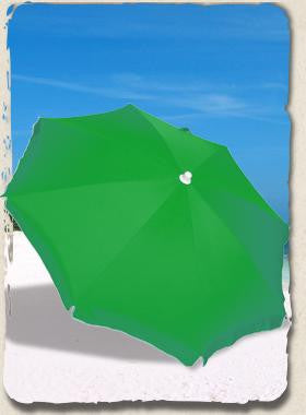 6' Beach Umbrella RIO Sun Blocking SPF100 Palm Green