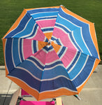 3' Beach Umbrella clamp on Groovy Swirl Blue by Baja Beach