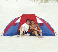 Wet Products Sun and Wind Protection Portable Beach Cabana with Window Vents