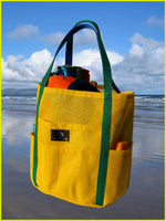 Dolphin Bag Yellow/Kelly from Saltwater Canvas