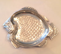 Silver Metal Flounder serving plate