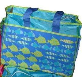 Whimsical Beach Bag Fish Tote with Shoulder Strap by RIO