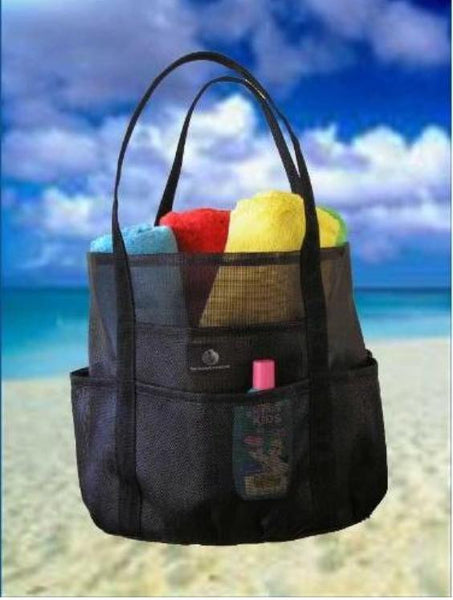 Saltwater Canvas Whale Bag Extra Large Family Beach Bag Tote  Black