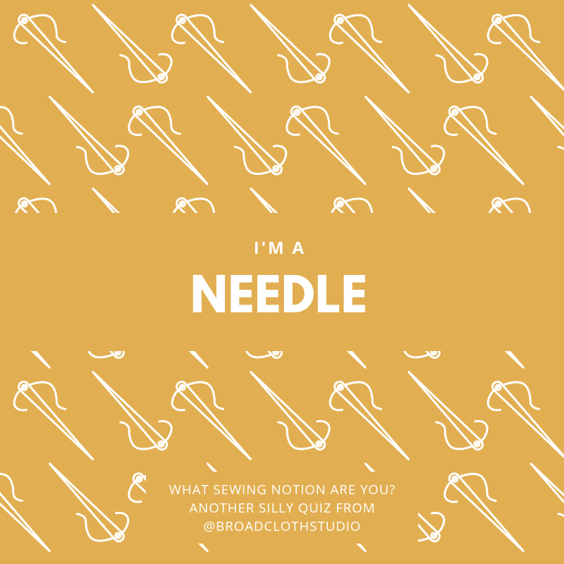 broadcloth studio sewing notions quiz needle