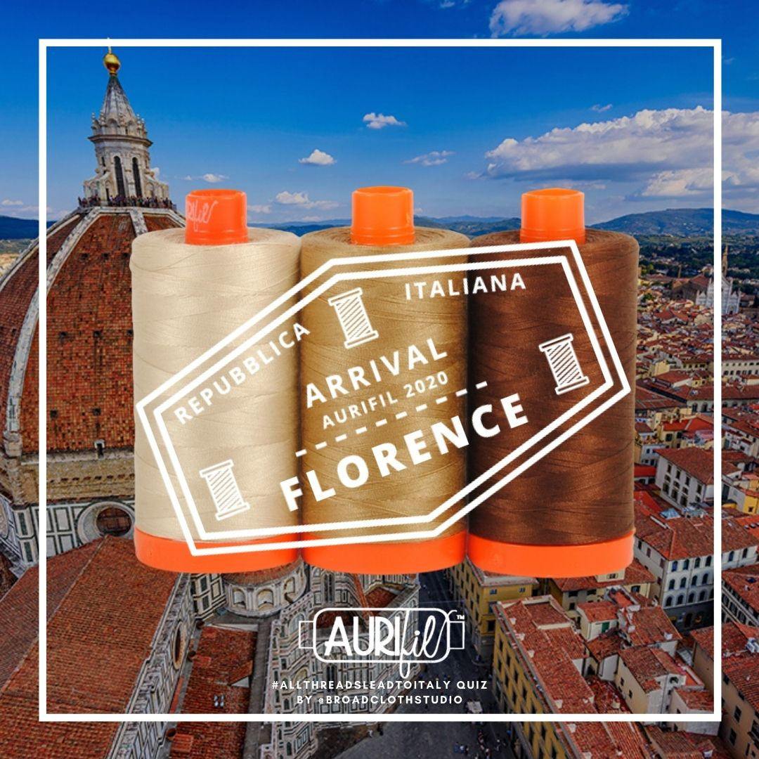 Aurifil Thread Color Builder Travel Quiz IG Post Florence