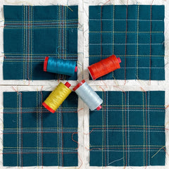 Broadcloth Studio Wholecloth Plaid Quilt Samples