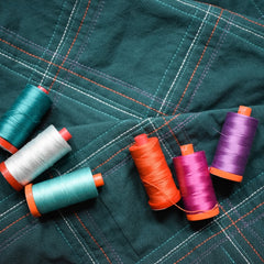Broadcloth Studio Wholecloth Plaid Quilt Threads